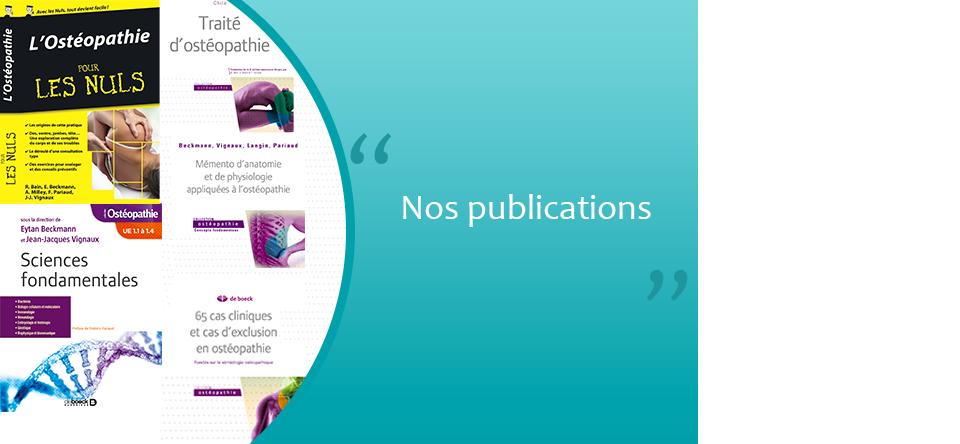 Publications du cabinet